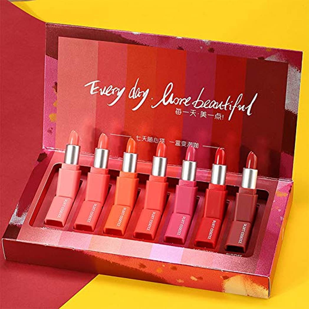 価値計画サービスRaiFu リップグロス リップスティック 口紅 女性 7色 長い持続性 退色ない モイスチャライジング 7個/セット