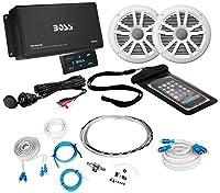 Boss ask902b.64チャネル500W MarineアンプW/Bluetooth + (2) スピーカー+ Ampキット