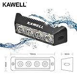 KAWELL コンパクト12W LEDランプ ワークライト作業灯 広角タイプ 12V/24Vの自転車にも対応 防塵防水仕様