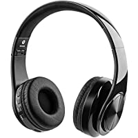 密閉型 Bluetooth ヘッドホン Giaride 通話可能 高音質 ワイヤレスステレオ 有線・無線兼用 ステレオタイプ TFカード入力、補助線、ソフトイヤリング、内蔵マイク、折り畳みデザイン、PC、携帯電話、テレビ、ビデオゲームに適用 (黒)