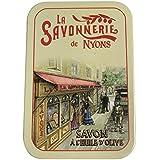 ラ?サボネリー アンティーク缶入り石鹸 タイプ200 パリの町並み(コットンフラワー)
