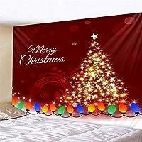 クリスマス タペストリー クリスマスタペストリー背景の布ハンギングタペストリーWallcoveringベッドルームリビングルームの装飾 個性ギフト 人気 お祝い (Color : C1, Size : 180cm*200cm)