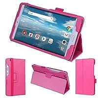wisers タッチペン・保護フィルム付 docomo dtab Compact d-02K 8.0インチ タブレット 専用 ケース カバー [2018 年 新型] ピンク
