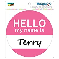 テリーこんにちは、私の名前は - サークル MAG-格好いい'S(TM)カー/冷蔵庫マグネット