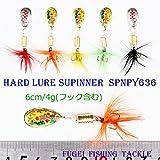 ルアー・フィッシング 用 スピナー 6cm 4g 10個 A12SPNpy63610 ルアー セット