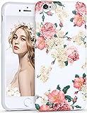 Imikoko iPhone 6 6s Plus ケース iphoneケース case アイフォン6/6s プラス 携帯カバー 花柄 耐衝撃 TPU おしゃれ かわいい 女性 人気 超薄 (iPhone6/6s Plus 5.5, ボダン)
