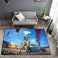 LLKOZZ アニメカーペットシャムぬいぐるみマットスクエアマットリビングルームカーペット - マルチサイズマルチパターンオプションのカーペット じゅうたん (Color : S, Size : 100cm×160cm)