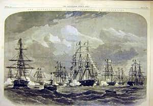 1865 人の祝祭の Cherbourg 海軍イギリス Squaron 皇帝