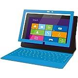 ELECOM Surface Pro/Surface Pro2対応 保護フィルム 気泡レス スムースタッチ ブルー TB-MSSFPWFLBSBU