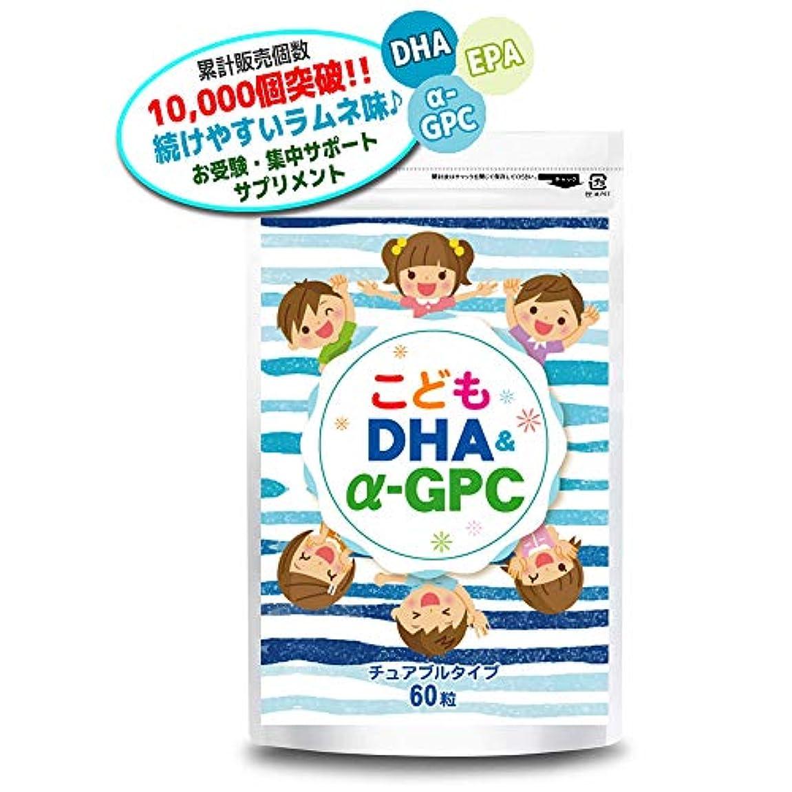 熱帯のオフセット解釈するこども DHA&α-GPC DHA EPA α-GPC ホスファチジルセリン 配合 【集中?学習特化型サプリメント】 60粒約30日分