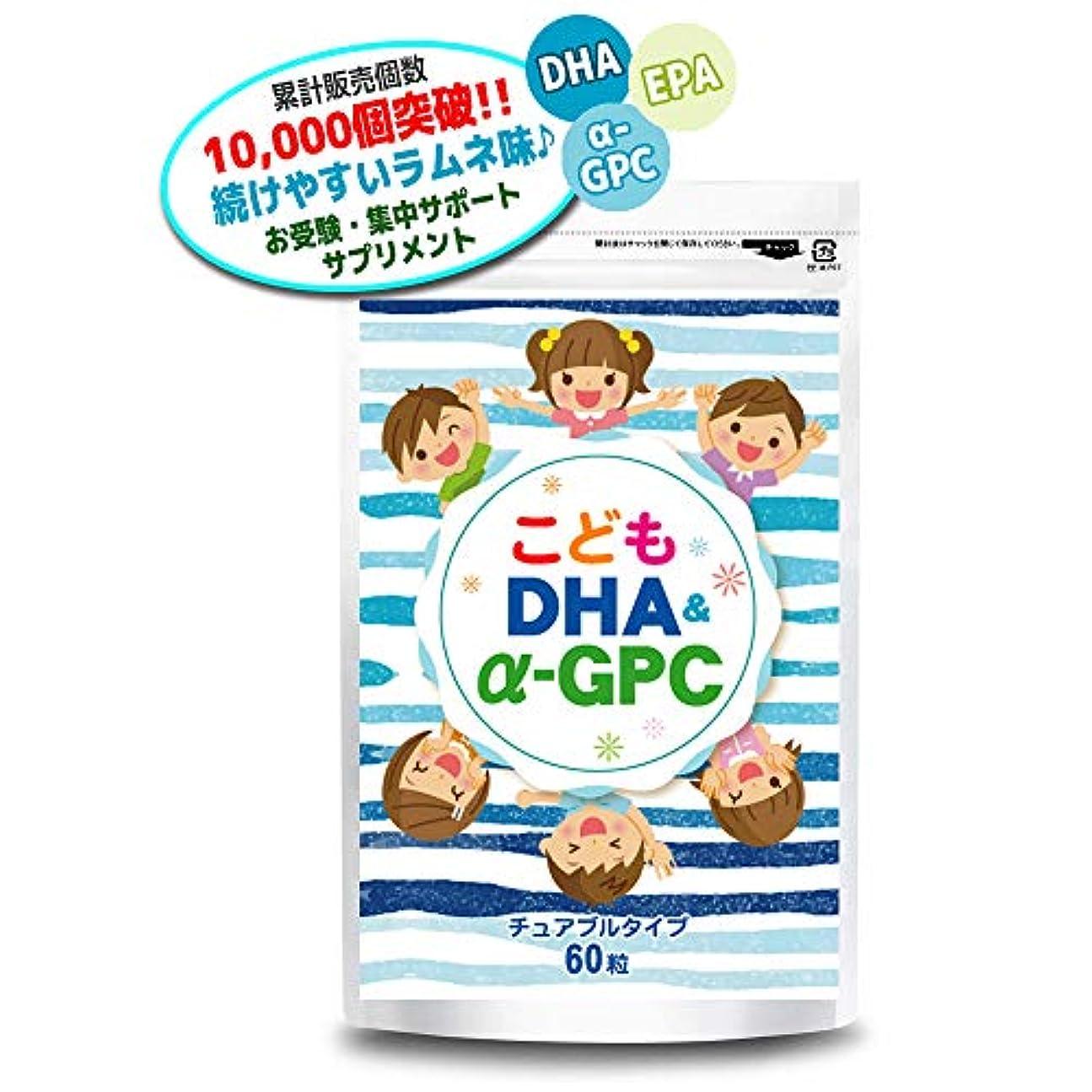 ブラウス縫い目遠征こども DHA&α-GPC DHA EPA α-GPC ホスファチジルセリン 配合 【集中?学習特化型サプリメント】 60粒約30日分