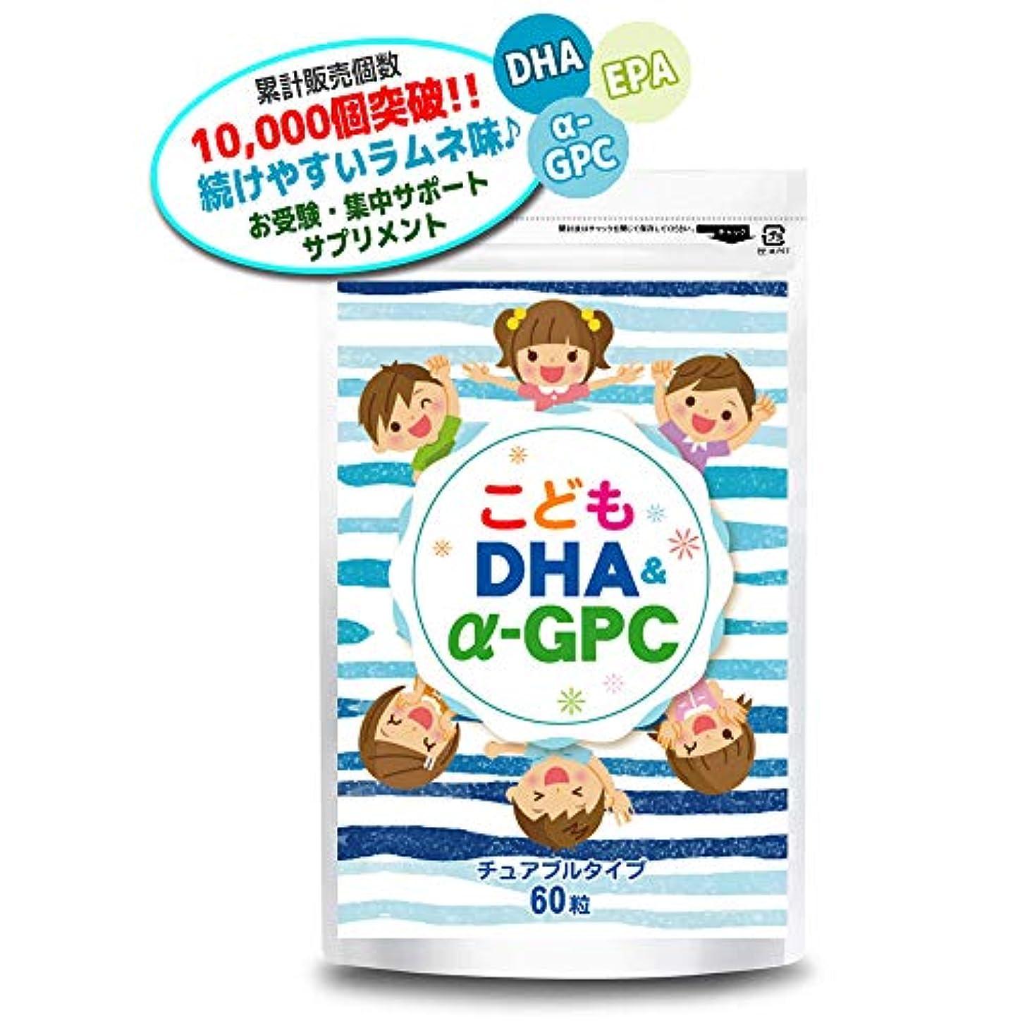 朝ごはん付き添い人追放するこども DHA&α-GPC DHA EPA α-GPC ホスファチジルセリン 配合 【集中?学習特化型サプリメント】 60粒約30日分
