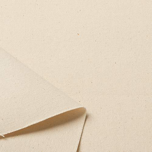 川島商事 富士金梅 キバタ素材 綿帆布・厚地系 生地 10号帆布 綿 約96cm幅×1m 生成 K1417 手芸・ハンドメイド用品
