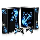 Linyuan 安定した品質 T0019* Skin Decal Wrap Sticker for Microsof XBOX360 SLIM Console+2 Controllers