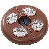 DOD(ディーオーディー) リモコンUFOライト リモコン付属 ワンポールテント 200ルーメン 暖色LED L1-502
