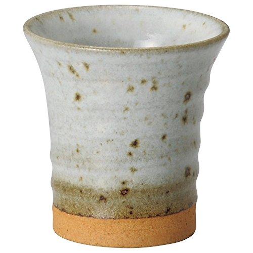 山下工芸 ビールグラス・ジョッキ 白 φ8.4×8.8cm(190cc) 白そば均窯反フリーカップ 14078540