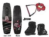 【4点セット】 【ウェイクボードセット3】 J-SATR(ジェイスター) ボード:134cm ブーツ:24~25cm