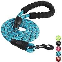 ShiMin 反射多色丸いロープの犬の鎖のロープの犬の鎖の犬のプル快適なプル大きな犬 (Color : ブルー)