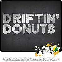 ドリフチンドーナツ Driftin 'donuts 20cm x 8cm 15色 - ネオン+クロム! ステッカービニールオートバイ
