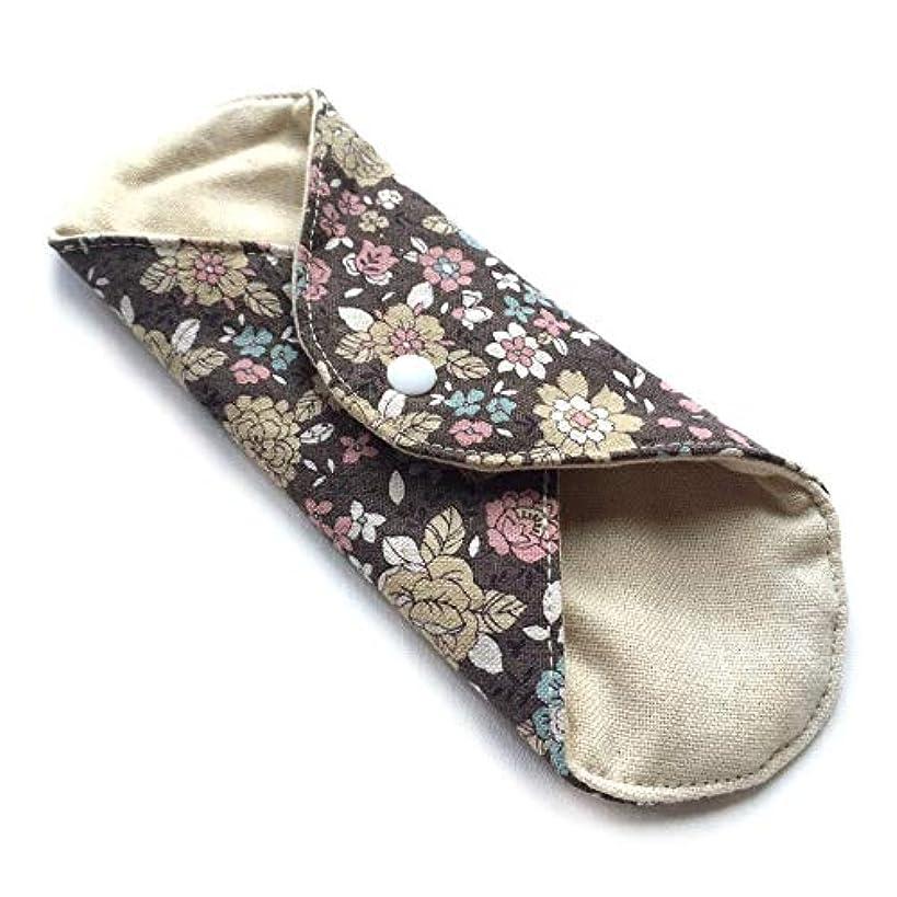概して王子器用華布 オーガニックコットンの草木染プレミアム Mサイズ(約15×約15cm) よもぎ(黒花)