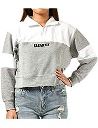 ELEMENT エレメント レディース トレーナー ムラサキスポーツ限定 ハーフジップアップ ショート丈 クロップド丈 AJ023-060