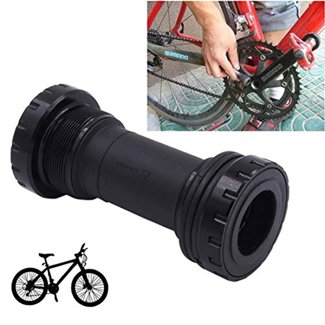 浮く夜邪魔する自転車BB91の底ブラケットはシマノのマウンテンバイクのための68-73mmに合います, (色 : ブラック)