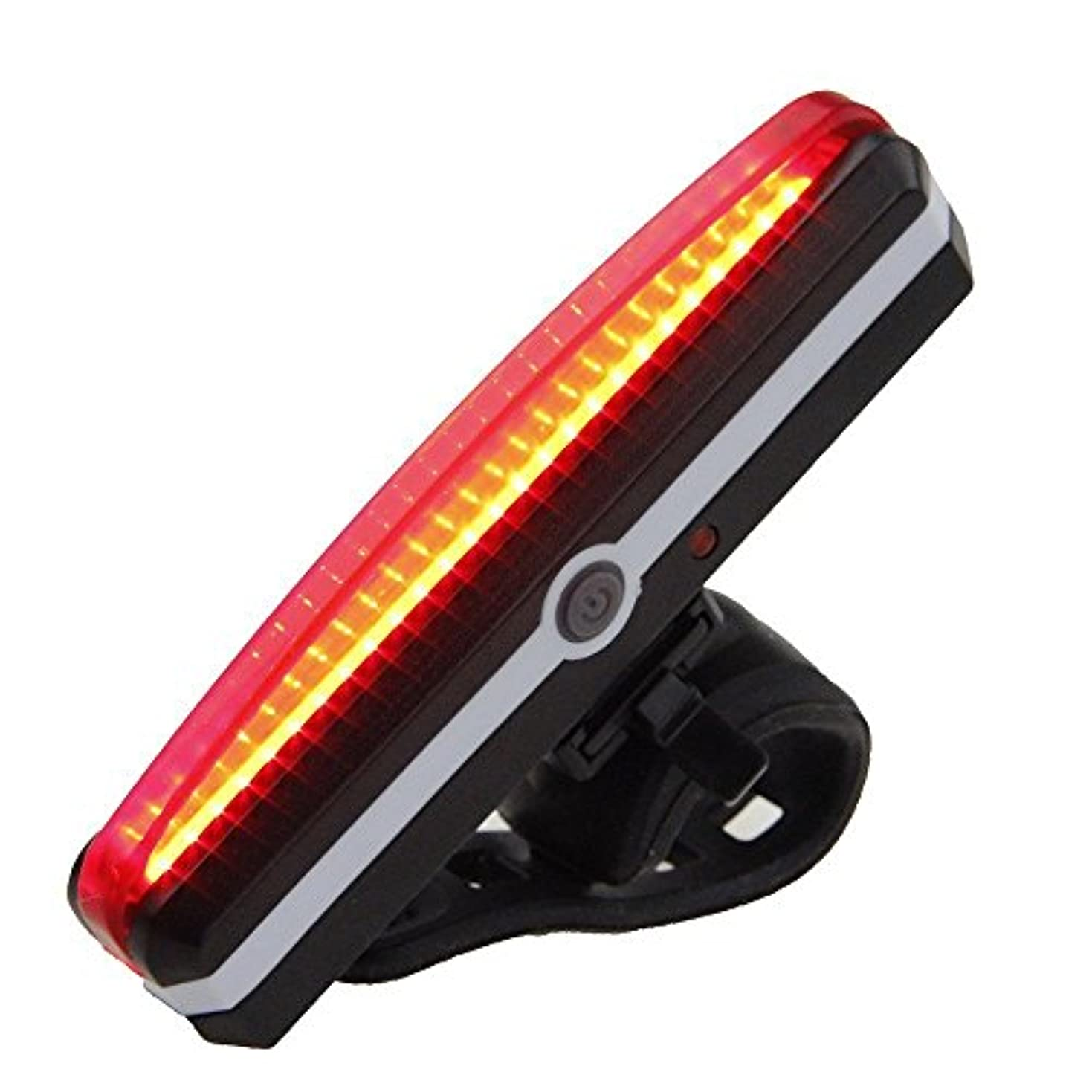 供給分染料ウルトラブライトバイクライトUSB充電式パワフルセーフティ自転車テールライトスポーツLEDレッドリアバイクライト、6ライトモードオプション、ワンタッチマウントおよびマウント解除、IPX4防水、全バイク用