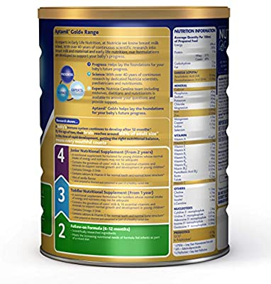 Aptamil Gold+ 2 Follow-On Formula for 6 to 12 Months Babies, 900g