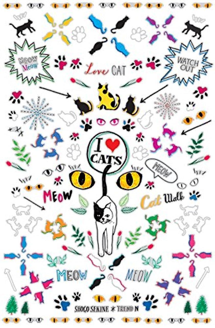 入る頑丈関係ないトレンドN ネイルシール I LOVE CATS