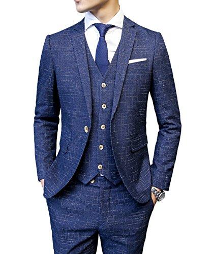 CEENスーリーピース オシャレ メンズ ジャケット スラックス ベスト カジュアル スタイリッシュスーツ 1つボタン ビジネス・パーティー フォーマル 春夏秋 新着