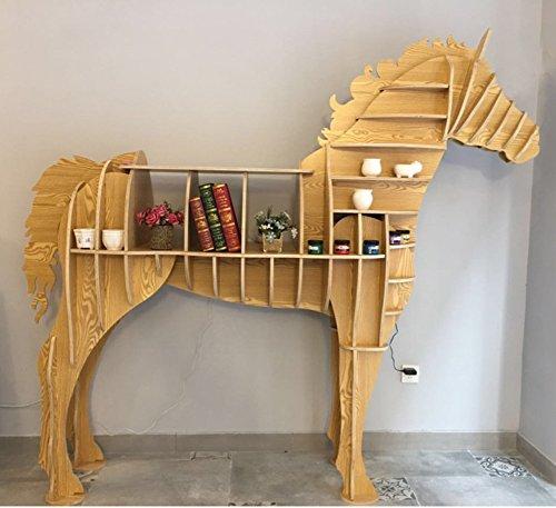 本棚,環境にやさしい動物形本棚創造的な動物のモデリング棚人格ショーケース床装飾-F 127x38x117cm(50x15x46)