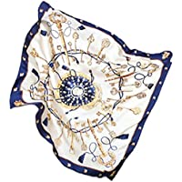 """AS ROSE RICH 35"""" Ladies Silk Feeling Neck Scarf 16 Arts Women's Square Satin Hair Scarves for MelbourneCup"""