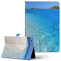 igcase ADP-738 Geanee ジーニー タブレット 手帳型 タブレットケース タブレットカバー カバー レザー ケース 手帳タイプ フリップ ダイアリー 二つ折り 直接貼りつけタイプ 002778 写真・風景 夏 海 写真