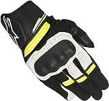 alpinestars(アルパインスターズ)バイクグローブ ブラック/ホワイト/イエローフロー (サイズ:2XL) ブースターグローブ 1694370405