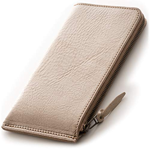 SYRINX 【厚い革の薄い財布】 本革 長財布 《単》 (長財布, Alaska Birch 「アラスカ・樺」)