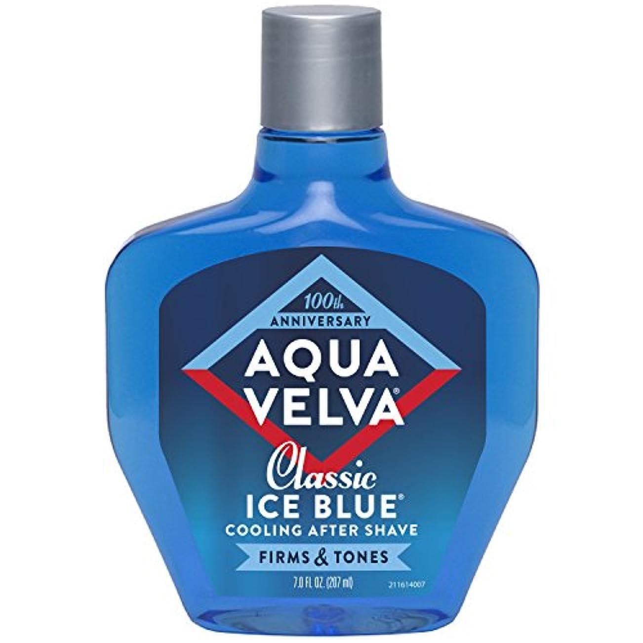 周囲思慮深いよろしくAqua Velva Cooling After Shave Classic Ice Blue 198g (並行輸入品)