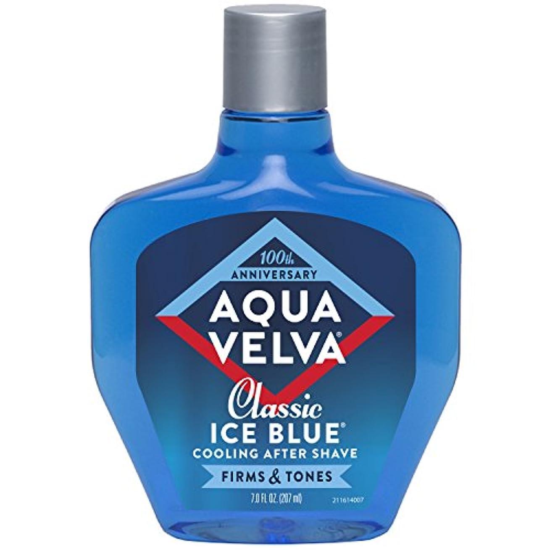 ビュッフェ醜いはっきりしないAqua Velva Cooling After Shave Classic Ice Blue 198g (並行輸入品)