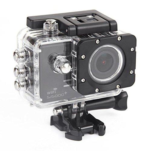SJCAM社製 SJ5000 plus Ambarella A7LS75 HDアクションカメラ スポーツカメラ 1080P/60FPS、720P/120FPS動画撮れる ドライブレコーダー用カーモード SJCAMロゴ付き正規品 Wifiよりスマホから確認、制御可能 バイクや自転車、カートや車に取り付け可能 コンパクトカメラ ブラック