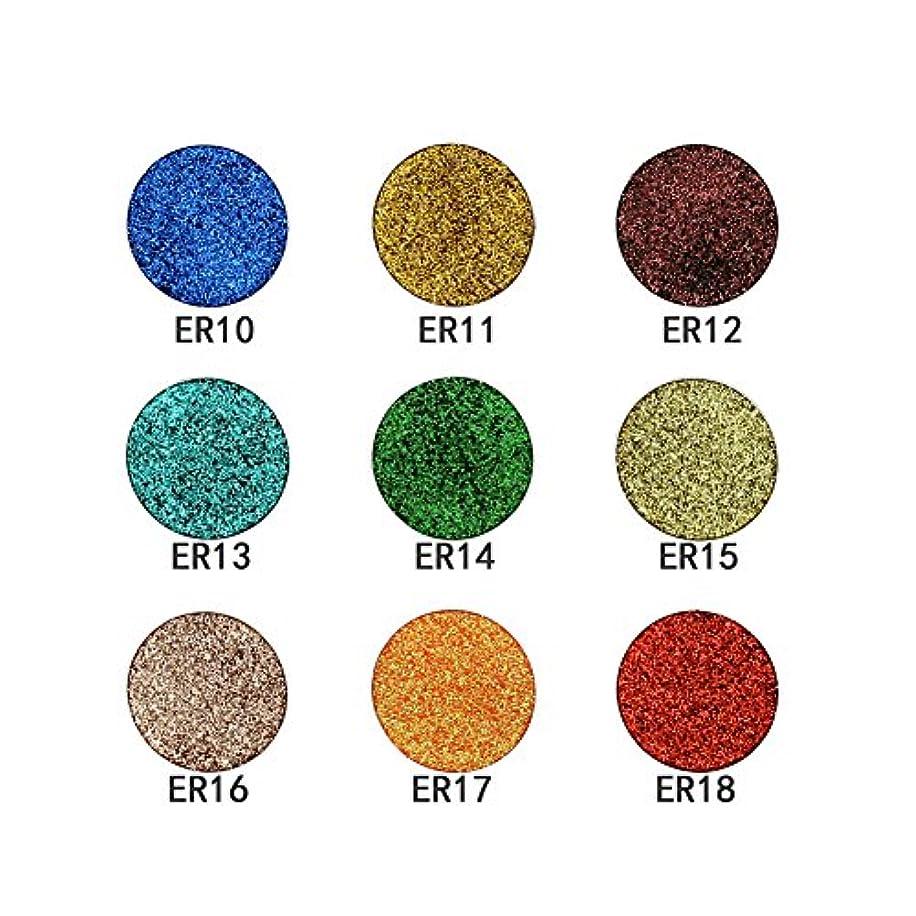 アイシャドー アイシャドウパレット 18色 アイメイク用シャドウパウダー 防水性/防汗性/長持ち/シャイニング 柔らか (ER10- ER18)