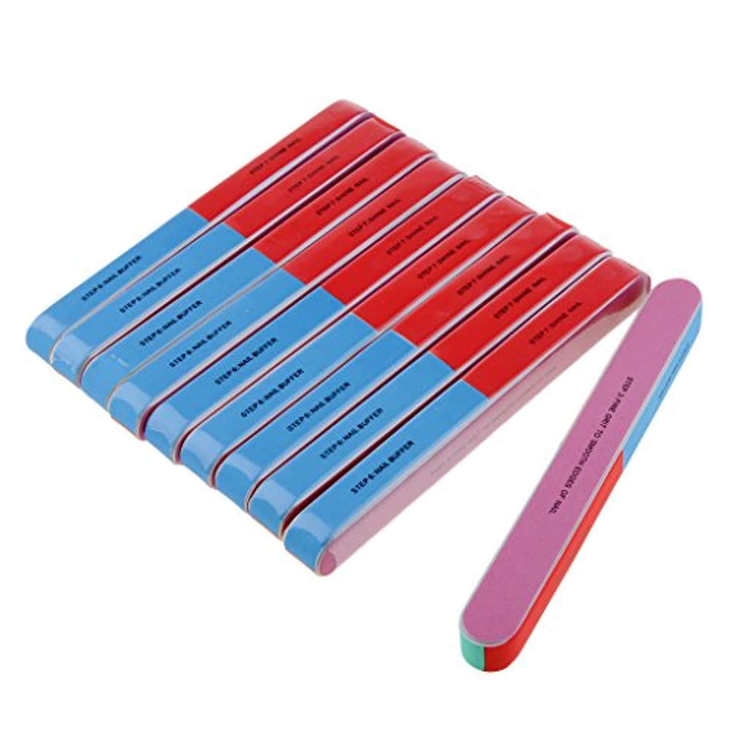 Baosity ネイルファイル ネイルケア 爪やすり スポンジ ネイルサロン 自宅用 プロ 爪磨き 10本