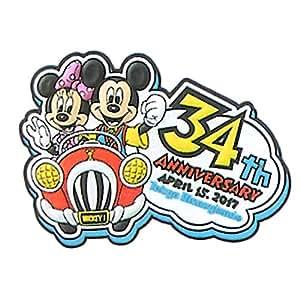 ディズニー ランド 34周年 2017 マグネット 磁石 ミッキー ミニー グーフィー 文房具 ( ランド限定 グッズ )