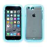 TaoTech iPhone6 iPhone6s 専用 着信 光る 9色LEDフラッシュ ネックストラップ付 ソフト クリアケース (iPhone6/6s, 多彩)