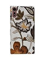 SUP-B(スパーブ) 完全受注生産 Galaxy Note10+ Note10 Plus SC-01M SCV45 専用 スマホ ハーフ カバー ケース (PU レザー 合皮) ブックタイプ ダイアリー かわいい スッキリ 柔らかい 花柄 ブラウン 茶色