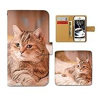 (ティアラ) Tiara AQUOS sense SHV40 スマホケース 手帳型 ねこ 手帳ケース カバー 猫 ねこ ネコ 写真 ペット 子猫 かわいい F0261040099104