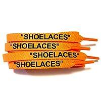 [KICKSROCK] SHOELACES (120cm, オレンジ/ブラックロゴ(FLAT))