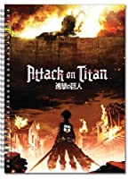 Notebook - Attack on Titan - Key Art Spiral Toys Anime Licensed ge43169