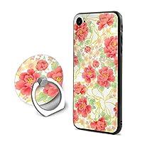 ボタンiPhone 7/8 ケース リング付き 人気 スタンド機能 ソフト 薄い 携帯カバー アイフォン 7/8 ケース