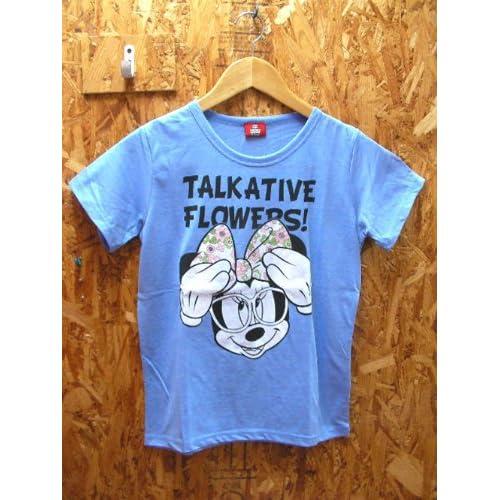 柄もプリントも可愛い ディズニーTシャツ  < デイジー ドナルド デイジーダック ミッキーマウス ミニー MINNIE minnie T ミッキー mickey MICKEY ディズニー ディズニーランド > (メガネミニー(ブルー)M)