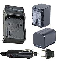 バッテリー( 2- Pack )と充電器for JVC bn-vg107u、bn-vg108u、bn-vg114u、bn-vg121u Li - Ion充電式バッテリー