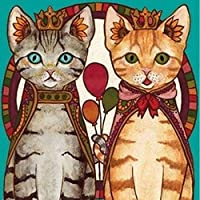 100%完了5d diyダイヤモンド絵画猫ペア3dダイヤモンド絵画ラウンドラインストーンフルダイヤモンド絵画刺繍漫画,70x90cm